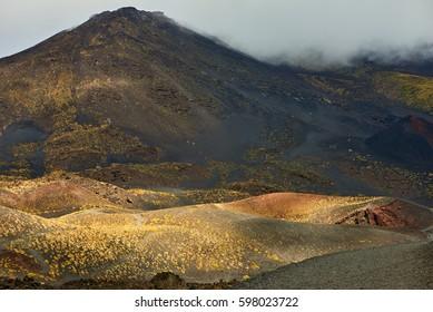 mount etna volcanic landscape