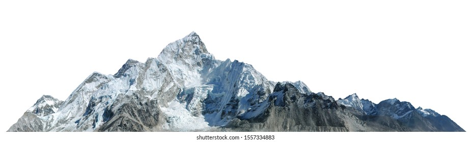 Mount Everest isolated on white background - Shutterstock ID 1557334883