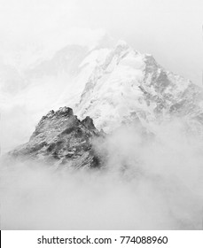 The Mount Everest region in bad weather - Nepal, Himalayas