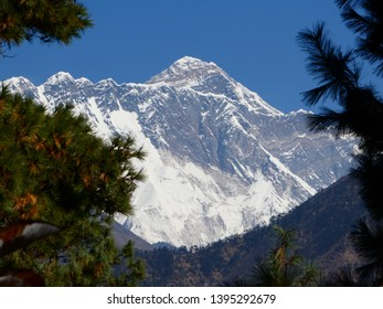 Mount Everest from viewpoint on Everest Three Passes Trek