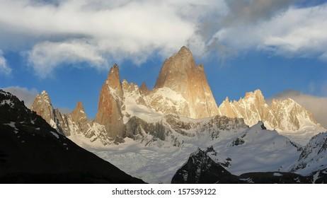 Mount Fiz Roy in sunrise, Patagonia, Argentina