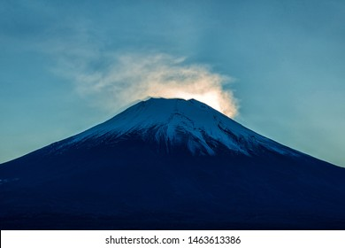 Mount Fuji after Fuji Daimond at Lake Yamanaka, Fuji Mountain or Fujisan located on Honshu Island, is the highest mountain in Japan.