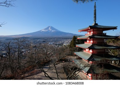 Mount Fuji from Chureito Pagoda