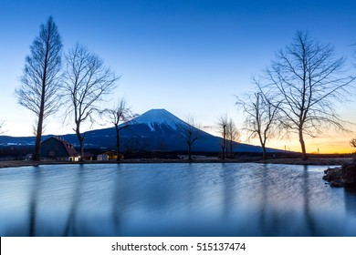 Mount Fuji Fujisan mountain with sunrise Japan