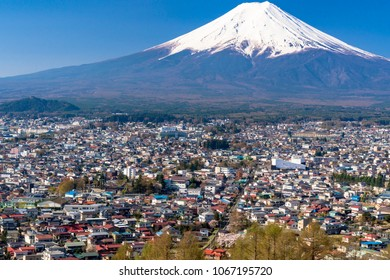 mount fuji and fujiyoshida city