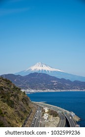 Mount Fuji and Gulf of Suruga