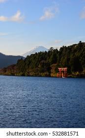 Mount Fuji at Lake Ashi, Hakone