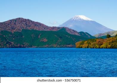 Mount Fuji and Lake Ashi in Hakone