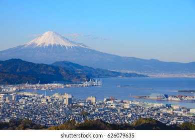 Mount Fuji from Nihon-Daira at Sunset