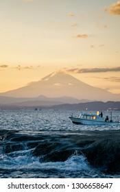 Mount Fuji in sunset