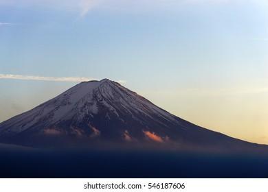 Mount Fuji at sunset, Japan