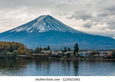 Mount Fuji view from Kawaguchiko lake.