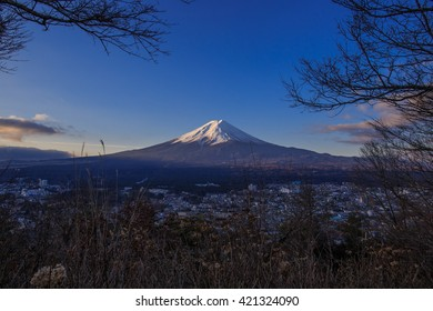 Mount Fuji in Winter  on February 2015.
