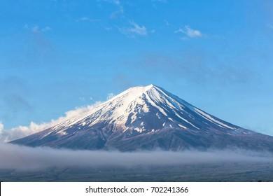 Mount Fuji,Fujisan located on Honshu Island, is the highest mountain in Japan.