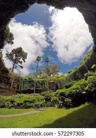 MOUNT GAMBIER, AUSTRALIA - NOV, 2016: Umpherston Sinkhole, also known as The Sunken Garden. Originally beautified by James Umpherston around 1886.