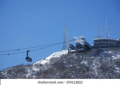 Mount Hakodate Ropeway of winter