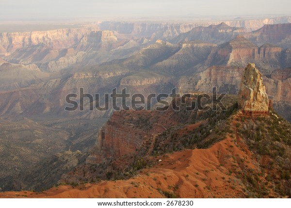 Mount Hayden as seen from the Point Imperial on the North Rim of Grand Canyon.