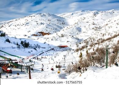 Mount Hermon, the ski resort.