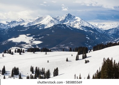 Mount of the Holy Cross. A famous fourteen thousand foot mountain in Colorado. Seen here from the back bowls of Vail Ski Area