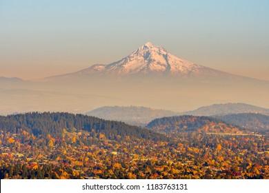 Mount Hood from Rocky Butte, Oregon-USA