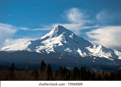 Mount Hood with Snow