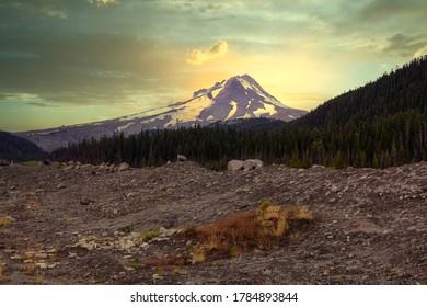Mount Hood at Sunset in Oregon, USA