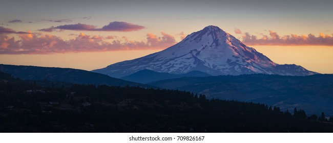 Mount Hood sunset as seen from The Dalles, Oregon