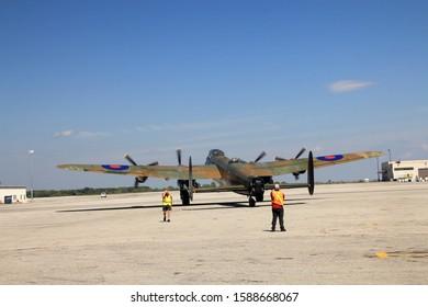 Mount Hope, Canada, AUGUST 2019: Canadian warplane heritage museum in Mount Hope, Ontario, Canada