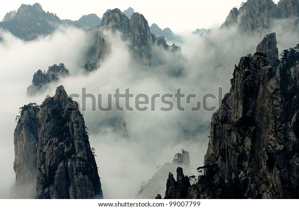 Mount Huang with Fog