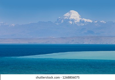 Mount Kailash is a 6,638 m high peak in the Kailash Range, which forms part of the Transhimalaya in the Tibet. The mountain is located near Lake Manasarovar and Lake Rakshastal