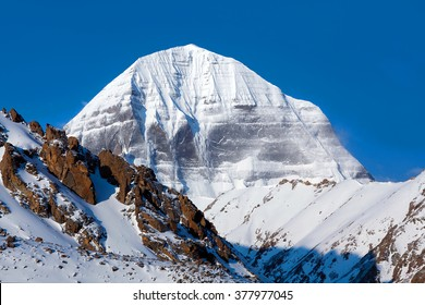 Mount Kailash (elevation 6638 m), which are part of the Transhimalaya in Tibet. It is considered a sacred place in four religions: Bon, Buddhism, Hinduism and Jainism