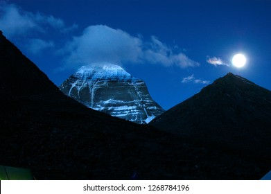 Mount Kailash (North Face), is a 6,638 m high peak in the Kailash Range, which forms part of the Transhimalaya in the Tibet Autonomous Region of China.