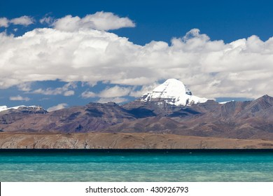 Mount Kailash over Manasarovar lake