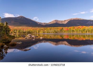 Mount Katahdin autumn reflections