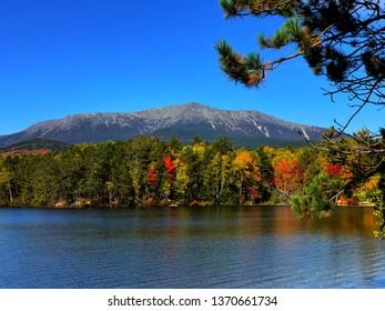 Maine's Mount Katahdin in the fall