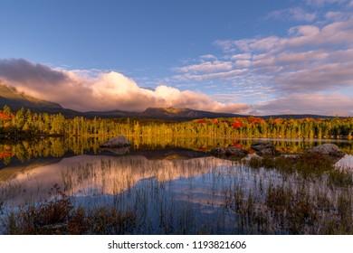 Mount Katahdin fall reflections