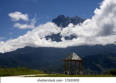 Mount Kinabalu in the clouds