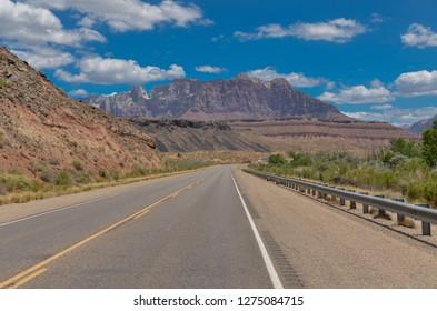 Mount Kinesawa view from Zion Park Scenic Byway Grafton, Washington county, Utah