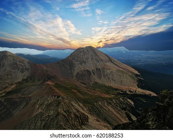 Mount Lindsey, elevation 14,048 ft, is situated in the Sangre de Cristo Range of southern Colorado