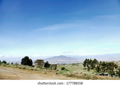 Mount Longonot in the great rift valley of Kenya