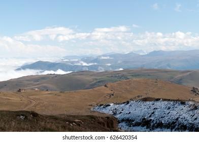 Mount Madur and plateaus around named as Cosk,Limonsuyu,Sultanmurat,Tasli Surmene district of Trabzon city Turkey.