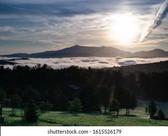 Mount Mansfield seen from Williston, Vermont. USA.
