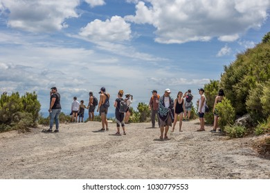 Mount Maunganui, New Zealand - December 31, 2017: Tourists enjoying in Mount Maunganui, New Zealand.