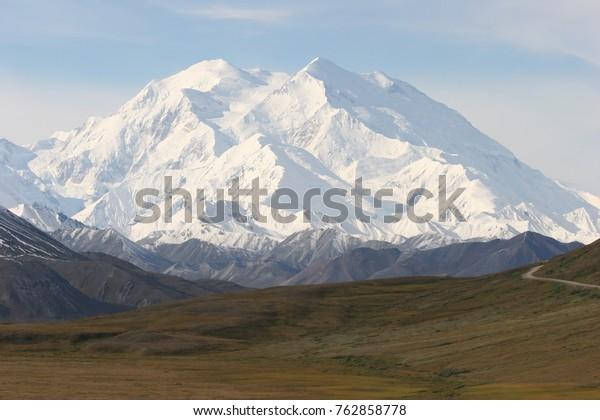 Mount McKinley im Denali National Park, Alaska in clear view