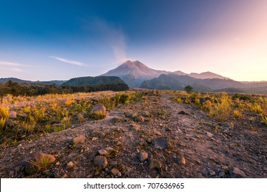 Mount Merapi on a beautiful clear day