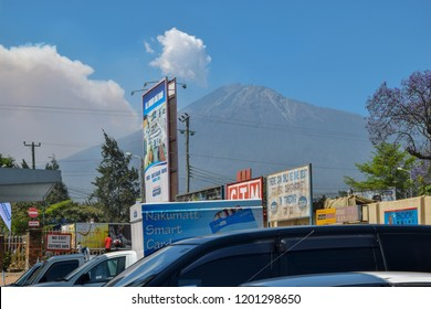 Mount Meru seen from Arusha Town. I took the photo on September 20th 2015 at Arusha Town, Tanzania