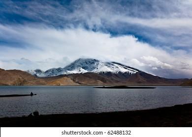 Mount Muztag Ata by the Karakul Lake in Xinjiang, China, about 200km from Kashgar.