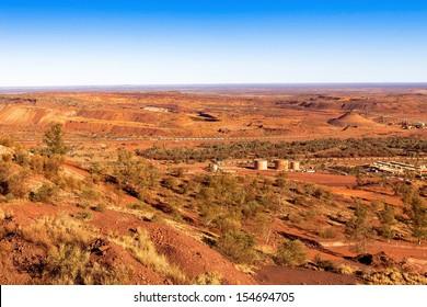 Mount Newman mine showing iron ore train ,Western Australia.