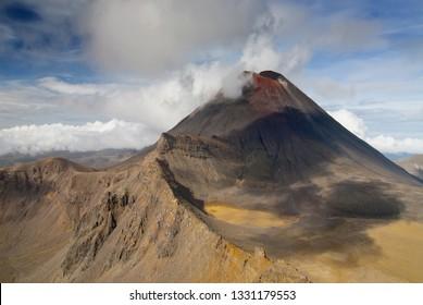 Mount Ngauruhoe, view from Tongariro Crossing National Park, North Island, New Zealand.