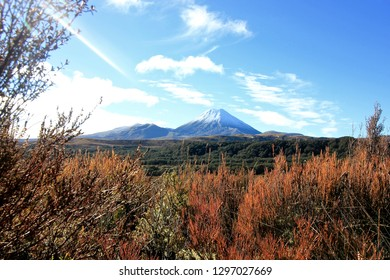 Mount Ngauruhoe Volcano, Tongariro National Park, NZ